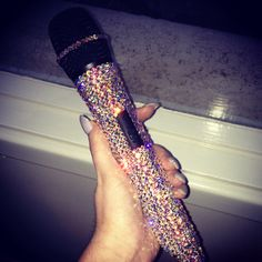 My AMAZING microphone! Thanks The Bejewelled Boutique for personalising my microphone and making it SPARKLE with Swarovski!  Email info@thebejewelledboutique.com.au for enquiries