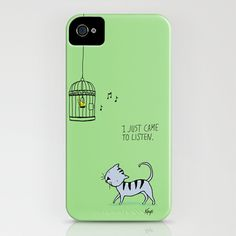 I Just Came to Listen iPhone Case by Dale Keys - $35.00