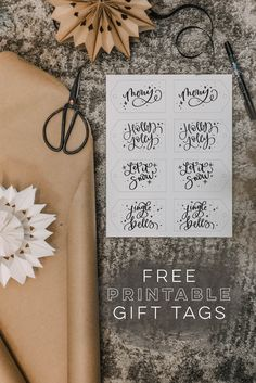 Love these hand lettered holiday tags! the merry one is so pretty