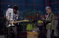 """CBS's The Late Late Show on 2-5-15 John Mayer welcomed Grateful Dead founding member Bob Weir to the show for an interview and performance. Weir discussed the band's impending 50th anniversary reunion at Solider Field this summer. Weir took the stage with Mayer to perform a pair of Grateful Dead classics: """"Truckin'"""" and """"Althea""""."""