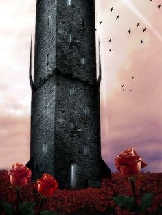 based on the Dark Tower series by Stephen King The Dark Tower Dark Tower Art, The Dark Tower Series, Dark Fantasy Art, Fantasy World, Fantasy Landscape, Landscape Art, Cowboys & Aliens, Stephen King, Nerd Art