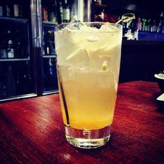 "NoMad Sake Cocktail Yuzu Sake  House sake, honey infused syrup, fresh lemon juice & ginger ale  #sakecocktail #cocktail #sake #yuzu #happyhour #flatiron #izakaya #gastropub #yakitori #sashimi #tataki #drink #nyceats"""
