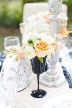 floral decor sophisticated halloween wedding ideas Astrid Photography 1 275x412 Sophisticated Halloween Wedding Ideas