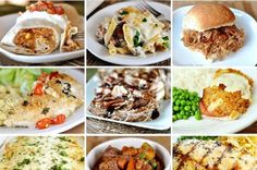 Check out this collage for 42 fantastic meals that can be made ahead of time!