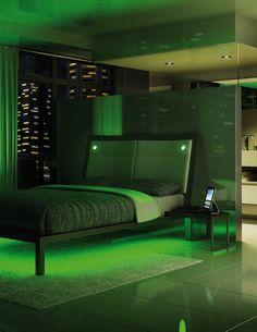 Incroyable Amisco   Furniture   Bedroom   Lounge Platform Bed   Recessed LED Lights    LED Strip
