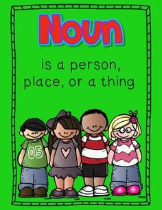 """FREEBIE Noun & Verb Posters! .... Follow for Free """"too-neat-not-to-keep"""" teaching tools & other fun stuff :)"""