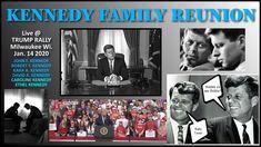 ALIVE -- JOHN F KENNEDY  - ROBERT F KENNEDY  @ TRUMP Rally    KARA & DAV... David Kennedy, Ethel Kennedy, Caroline Kennedy, Riders On The Storm, Weird World, Coincidences, Jfk, Kara, Rally