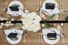 Deco de table. Source: http://styledandwed.com/