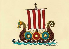 Hey, I found this really awesome Etsy listing at http://www.etsy.com/listing/53797278/dragon-ship-viking-scandinavian-high