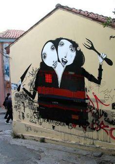Street art by Alexandros Vasmoulakis