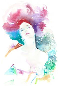 Fashion Illustration Watercolor Print 13 x 19 by silverridgestudio, $200.00