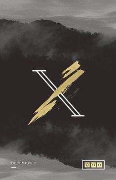 X | Sermon Series on Behance - love this contrast in style