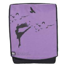 Flight of Dance Backpack #backpack #silhouette #dance #ballet #raven #crow #birds