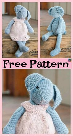 8 Knitted Adorable Bunny Free Patterns 8 Knitted Adorable Bunny Free Patterns The post 8 Knitted Adorable Bunny Free Patterns appeared first on Knit Diy. Knitted Doll Patterns, Animal Knitting Patterns, Knitted Dolls, Stuffed Animal Patterns, Crochet Dolls, Crochet Baby, Crochet Patterns, Knitted Bunnies, Knitted Animals