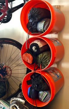 Tidy Up Your Gear Storage - REI Co-op Journal - - Simplify and organize your gear (and set yourself up for quick, grab-and-go adventures) with these tips. Garage Organization Tips, Garage Tool Storage, Garage Shed, Garage Tools, Shed Storage, Diy Storage, Storage Ideas, Storage Hacks, Kayak Garage Storage