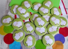 Cute sheep/lamb button badges 🐑 #sheep #animal #lamb #cute #badges #handmade #farmanimal #wool #buttonbadges #koolbadges #handmadeinCornwall Custom Badges, Custom Buttons, Hen Party Badges, Badge Maker, Birthday Badge, Cute Sheep, Sheep And Lamb, Badge Design, Button Badge