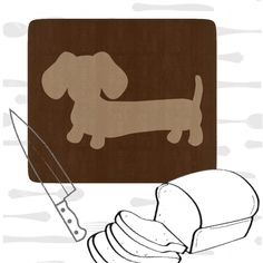Brown Dachshund Kitchen Cutting Board - The Smoothe Store - 1