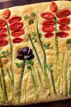 "Fantastic Focaccia Bread Recipe ""This recipe is simple and easy! - Fantastic Focaccia Bread Recipe ""This recipe is simple and easy! You can add garlic - Side Recipes, Healthy Dinner Recipes, Vegetarian Recipes, Healthy Snacks, Quick Recipes, Brunch Recipes, Steak Recipes, Chicken Recipes, Cooking Recipes"
