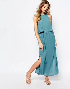Image 1 of Darccy Frill Layered Maxi Dress