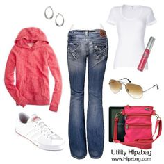 @hipzbag Casual outfit inspiration. Pretty in pink. http://www.hipzbag.com