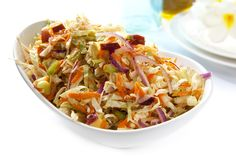 Vegan Thanksgiving coleslaw recipe.