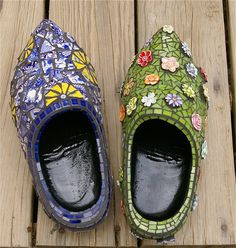 Dutch Wooden Shoe Mosaic Stained Glass.....this was a lot of work!