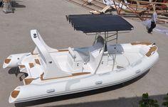 Center console inflatable boat / semi-rigid / sundeck / roll-bar HYP580 Qingdao Lian Ya Boat Co