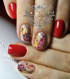 Фотографии Marina Design Perfect Nails, Gorgeous Nails, Love Nails, Red Nails, Pretty Nails, Hair And Nails, Christmas Nail Designs, Fall Nail Designs, Christmas Nails