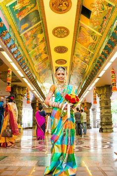 Beautiful, colourful Tamil bride