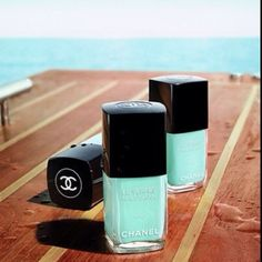 Chanel Nail Polish in Nouvelle Vague | 37 Ways To Treat Yourself With Tiffany Blue