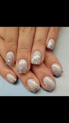 Everyone knows I LOVE LOVE LOVE anything Glittery & Sparkly!! These nails are hot and would be really cute for New Years Celebrations!