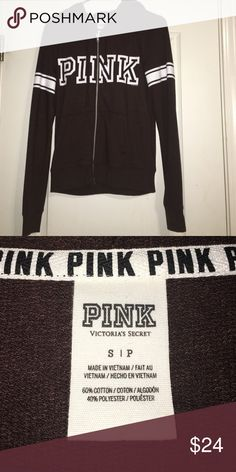 Pink jacket New pink hoodie zip up size small never worn PINK Victoria's Secret Jackets & Coats