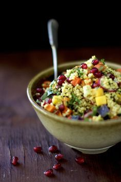 Roasted Root Vegetable Salad with Millet and Cilantro Lime Dressing