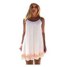 WILLTOO Women Backless BOHO Beach Mini Dress Sundress US Size4 * You can get additional details at the image link.