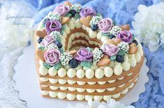Cream tart fatta in casa - ricetta e tutorial pcream tarter ogni forma Number Birthday Cakes, Number Cakes, Tart Recipes, Easy Cake Recipes, Shortbread Cake, Cake & Co, Unique Cakes, Party Desserts, Fancy Cakes