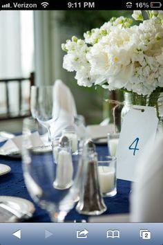 Navy white wedding
