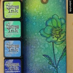 ・・・ Retaking OCC Creative Chemistry 101 in prep for in August. Challenge 1 - Blended Spritz and Flick. The stamp is one of Tim's from the Flower Garden Set. Tim Holtz Distress Ink, Distress Markers, Distress Oxide Ink, Card Making Tips, Card Making Techniques, Making Ideas, Druckfarben Im Distress-look, Distress Ink Techniques, Embossing Techniques