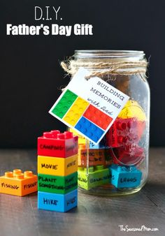 Have LEGOs laying around, doing this Building Memories with Dad Craft {Also use little LEGOs and a baby food jar!} Father's Day Crafts for Kids: Preschool, Elementary and More on Frugal Coupon Living.