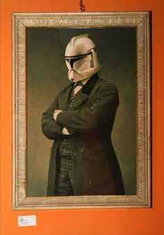 Vintage photograph of a Star Wars Imperial Guard.