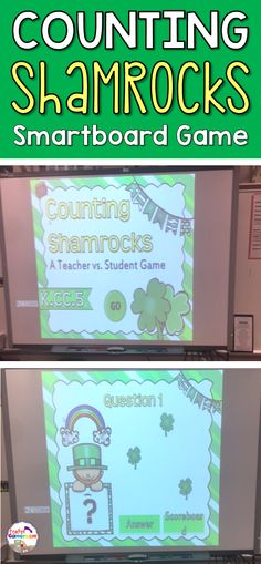 Practice counting to 20 in this St. Patrick's Day place value game. Students count shamrocks as they play against the teacher. CCSS aligned. Great for kindergarten!