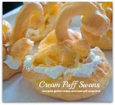 Cream Puffs - Puffs filled with whipped cream. Heavenly!