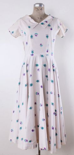 1950s dress / 50s dress / Floral dress / by TheVintageAtelier, $60.00