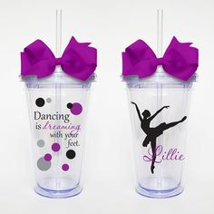 Dancing Quote w/ name  Acrylic Tumbler by SweetSipsters on Etsy, $15.00