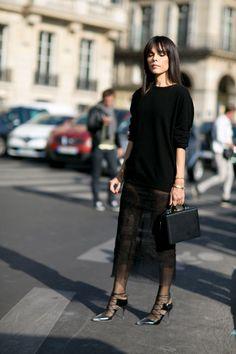 #EvangelieSmyrniotaki sexy lace. Paris