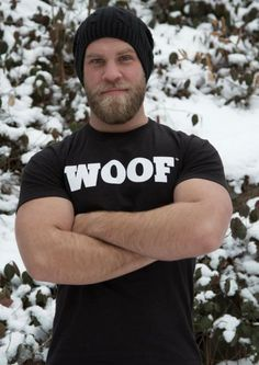 He is so delicious and sexy! The beard, the smile, the hat and those arms! Double Meow!