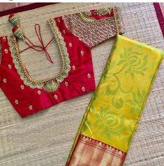 Lehenga Designs Simple, Wedding Saree Blouse Designs, Pattu Saree Blouse Designs, Blouse Designs Silk, Saree Wedding, Sari Design, Traditional Blouse Designs, Kids Blouse Designs, Stylish Blouse Design