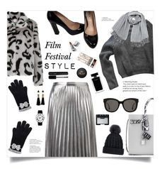 """""""Film Festival Style (Contest Entry)"""" by jafashions ❤ liked on Polyvore featuring Shrimps, American Apparel, Witchery, Yves Saint Laurent, Miu Miu, Gentle Monster, Vero Moda, Rosendahl, Narciso Rodriguez and NARS Cosmetics"""