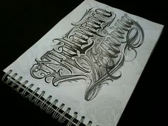 Chicano Lettering, Script Lettering, Lettering Design, Alphabet Fonts, Writing Fonts, Chicano Art, Mother And Father, Pointers, Tattoo