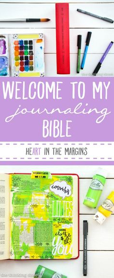 Welcome to My Journaling Bible: heART in the margins  |  The inside scoop Q & A style about this new movement sweeping the margins of Bibles everywhere...and how you can use art to engage with scripture in a new and exciting way! This is a great introduction for beginners.