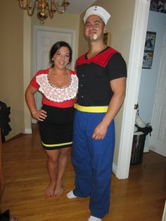 diy popeye and olive oyl costume autumn awesome ness. Black Bedroom Furniture Sets. Home Design Ideas